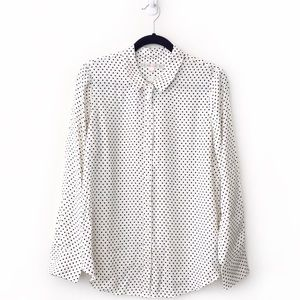 Alexa Chung For Madewell Silk Cora Dotted Shirt
